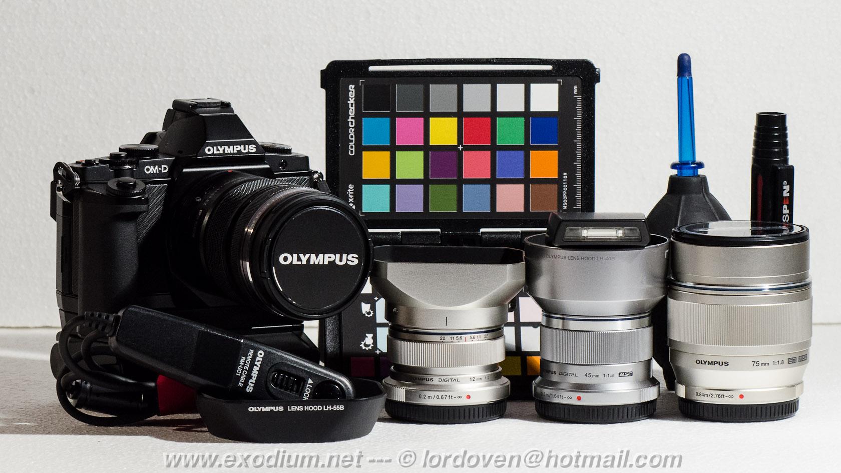 olympus 12mm 45mm 75mm